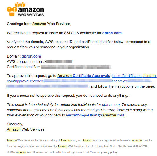 free ssl with amazon's aws certificate manager (acm) - dpron